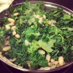 Kale, beans, garlic & onion